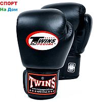 Перчатки для бокса и единоборств Twins 10-OZ кожа (цвет чёрный)