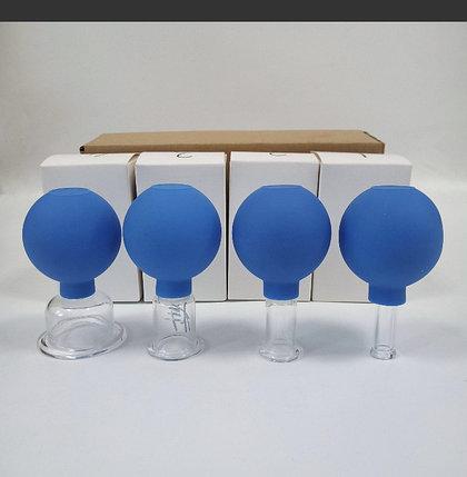 Вакуумные банки массажные стеклянные (4 шт), фото 2