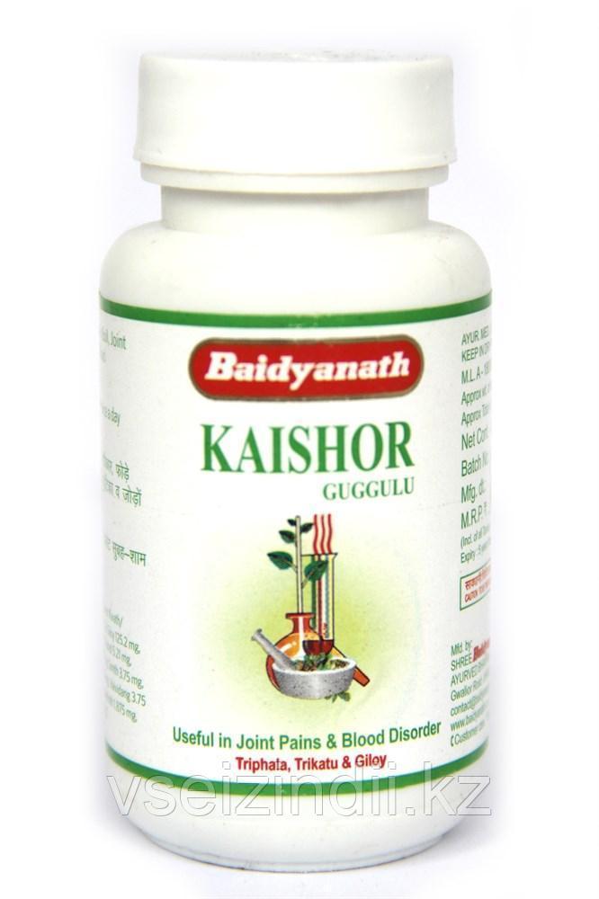 Кайшор Гуггул, Байдьянатх; Kaishor Guggulu, Baidyanath, 80 таблеток