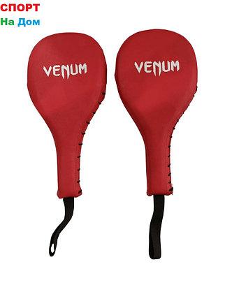Лапа хлопушка для бокса Venum (цвет красный), фото 2