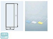 Стекло предметное со шлифованным краем 45* и матовым полем (26х76х1,0 мм) (уп.50 шт) (Duran)