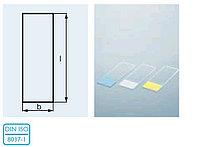 Стекло предметное со шлифованным краем белого цвета 90* и матовым полем (26х76х1,0 мм) (уп.50 шт) (Duran)