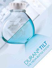 Бутыль для микробиологических работ Duran Tilt c пластмассовой завинчивающейся крышкой d-52 мм, cо шкалой (500 мл)