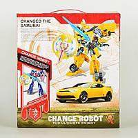 Роботов-трансформеров Changerobot желтый с щитом и мечом