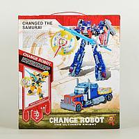 Роботов-трансформеров Changerobot синий с щитом и мечом
