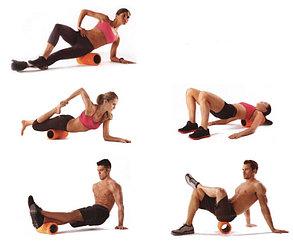 Массажный валик (ролик) для фитнеса и йоги 62 см (цвет розовый), фото 2