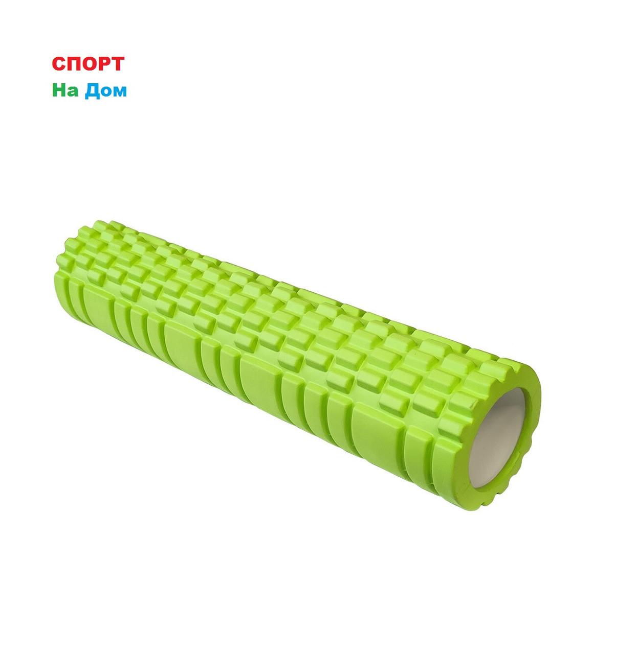 Массажный валик (ролик) для фитнеса и йоги 62 см (цвет зеленый)