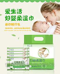 Антибактериальные, дезинфицирующие детские влажные салфетки (8 кейсов х 8 шт.) Carich от Greenleaf (Гринлиф)