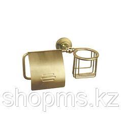 Держатель для освежителя и т/бумаги с крышкой Potato P2603-1 бронза