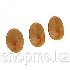 Крючок пластмас. 3 шт CD-3022 овал дерево АкваЛиния