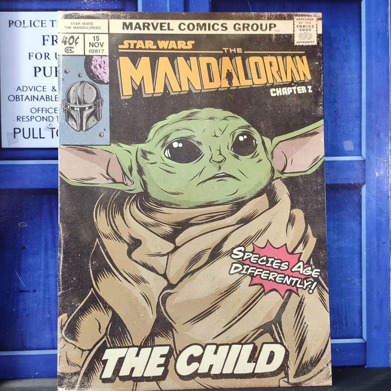 Постер Малыш Йода - Baby Yoda
