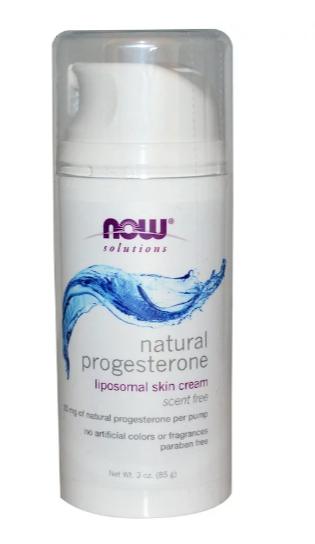 Now Foods, Натуральный прогестерон, липосомный крем для кожи, без запаха, 85 г