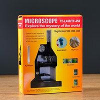 Микроскоп, кратность увеличения 450х, 200х, 100х