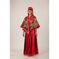 Карнавальный костюм 'Масленица красная', накидка, головной убор, р. 48-50