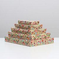 Набор коробок 5 в 1 'Кружки', 40 х 30 х 5 - 20 х 10 х 3 см