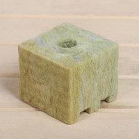 Субстрат минераловатный в кубике, 7,5 x 7,5 x 6,5 см, отверстие 15 x 15 мм, 'Эковер' (комплект из 16 шт.)