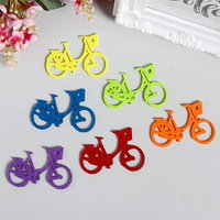 Декор для творчества войлок 'Велосипеды' набор 6 шт 4,2х6,2 см