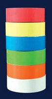 Лейблы прямоугольной формы, 33х13 мм, 6 цветов (упаковка - 6 рулонов по 1000 наклеек) (ISOLAB)