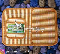 Набор подставок под горячее. Материал: Сорго/Нетканый материал. Цвет: Оранжевый. Набор: 3шт.