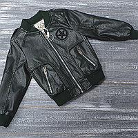 Куртка из экокожи хаки