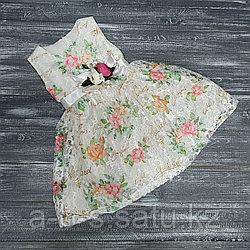 Платье нарядное светлое