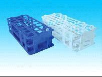 Штатив для пробирок, пластиковый, корзиночного типа, квадратные гнезда (21 гнездо, 30х30 мм)
