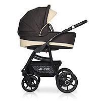 Детская коляска RIKO ALFA Ecco BASIC 2 в 1 (коричневый/бежевый 08)