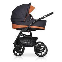 Детская коляска RIKO ALFA Ecco BASIC 2 в 1 (графит\оранжевый 06)