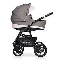 Детская коляска RIKO ALFA Ecco BASIC 2 в 1 (серый\розовый 09)