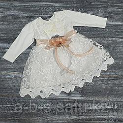 Платье: верх велюр, (оконтовка желтая)