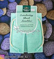 """Пилинговая мочалка для тела """"Bathjazz"""". Материал: Гофрированное волокно. Цвет: Бирюзовый."""