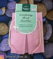 """Пилинговая мочалка для тела """"Bathjazz"""". Материал: Гофрированное волокно. Цвет: Розовый."""