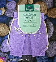 """Пилинговая мочалка для тела """"Bathjazz"""". Материал: Гофрированное волокно. Цвет: Сиреневый."""
