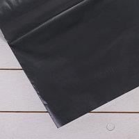 Плёнка полиэтиленовая, техническая, толщина 200 мкм, 3 x 100 м, рукав (1,5 м x 2), чёрная, 2 сорт, Эконом 50