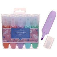 Набор маркеров-текстовыделителей 5 цветов 1-5.0 мм LadyMarker персиковый, мятный, розовый, голубой, сиреневый