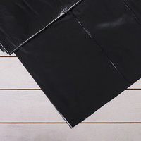 Плёнка полиэтиленовая, техническая, толщина 150 мкм, 3 x 10 м, рукав (1,5 м x 2), чёрная, 2 сорт, Эконом 50