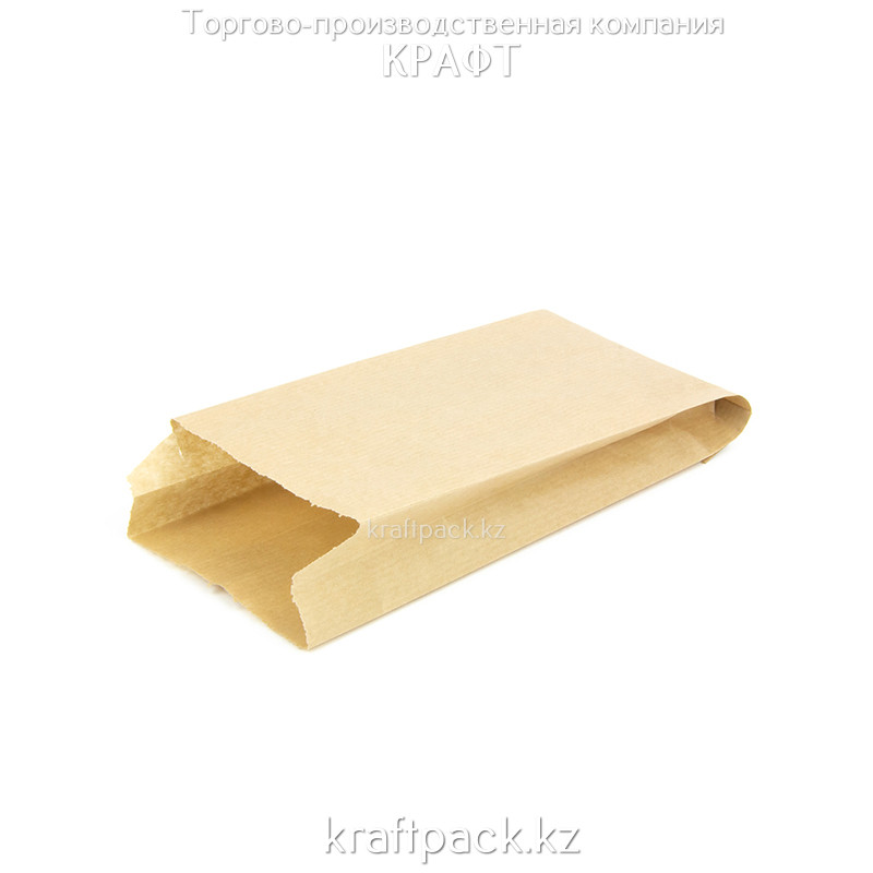 Пакет крафт с плоским дном 90*35*190 (2500шт/уп)