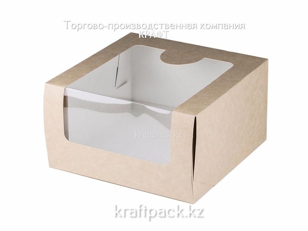 Коробка КРАФТ для торта 180*180*100 Pasticciere (20/120)