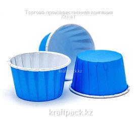 """Форма бумажная """"Маффин"""" 50*40 мм (синий) ( 100/2000 шт)"""