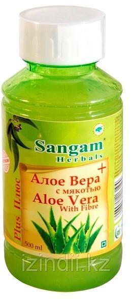 Натуральный сок Алоэ Вера с мякотью, Sangam Herbals, 500 мл