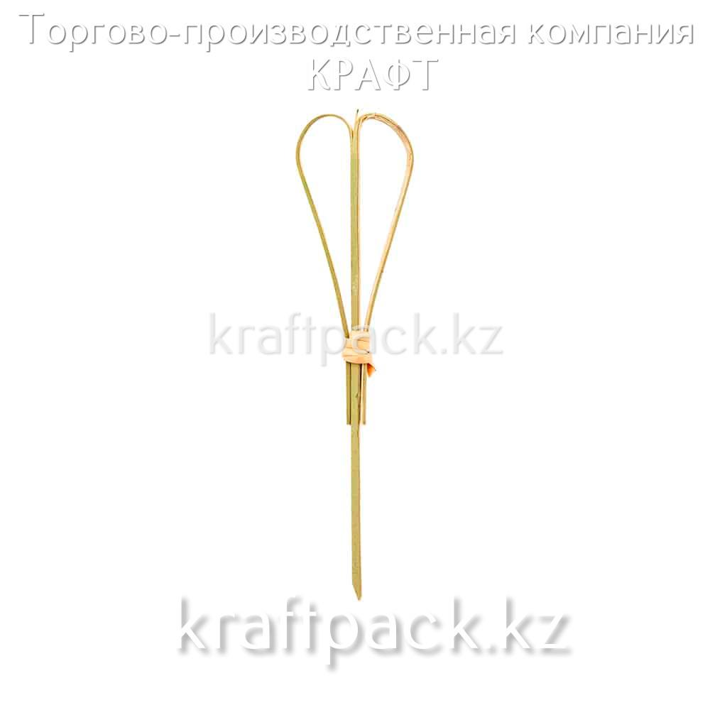Пика для канапе сердце 15 см (100 шт/уп) Бамбук