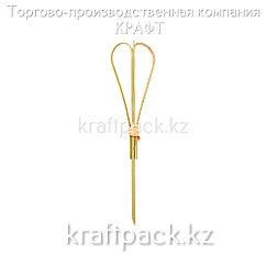 Пика для канапе сердце 12 см (100 шт/уп) Бамбук