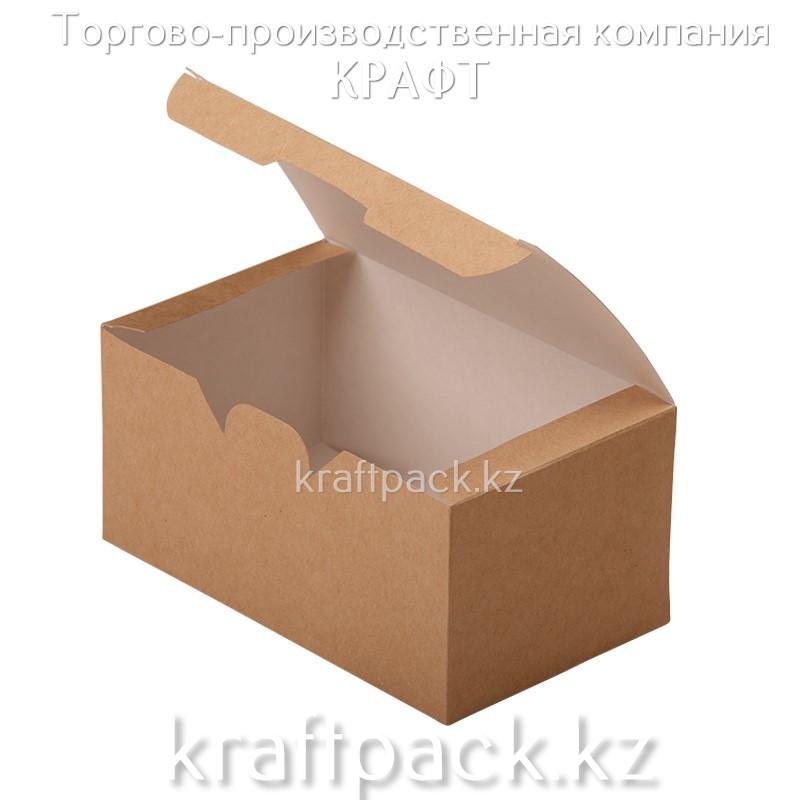 Упаковка для куриных крыльев, снеков и наггетсов FASTFOOD BOX L 150*91*70 (Eco Fast Fold Box L) DoEco (25/400)