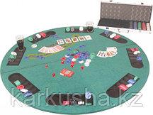 Складной круглый стол для игры в покер