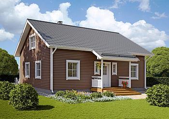 Одноэтажные каркасные дома