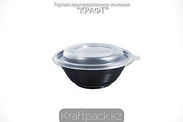 Контейнер с крышкой ПР-МС 350 мл чёрный (540) ПРОТЭК