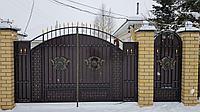 Ворота с калиткой с электроприводом, фото 1