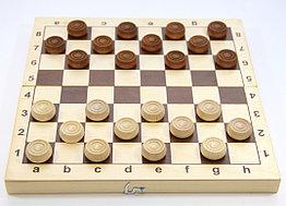 Настольная игра: Шашки деревянные (29х29)