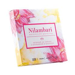 Nilambari Шоколад На кэробе нежный с клубникой и бананом ,65 г