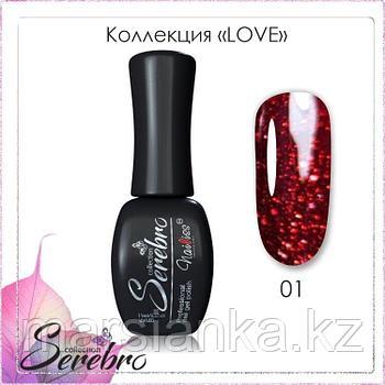 "Гель лак Serebro ""LOVE"" №01, 11мл"